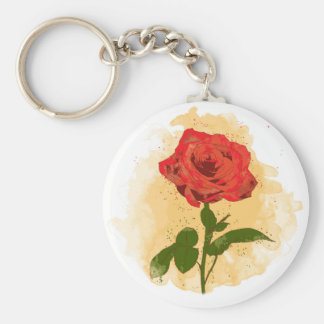 Red Rose Design Keychain