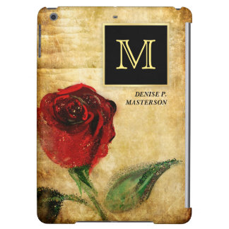 Red Rose Executive Monogram iPad Mini Case