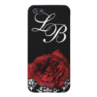 Red Rose Floral Damask iPhone Case For iPhone 5/5S