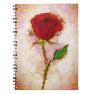 Red Rose Floral Notebook