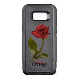 Red Rose Floral Picture Cut Out Flower OtterBox Commuter Samsung Galaxy S8+ Case
