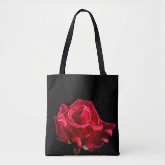 Red Rose Flower Floral Bloom Tote Bag