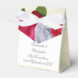 Red rose flower floral romantic wedding favor box