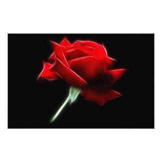 Red Rose Flower Plant Stationery Design