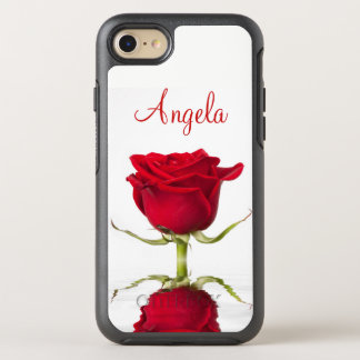 Red Rose Flower Reflection OtterBox Symmetry iPhone 8/7 Case