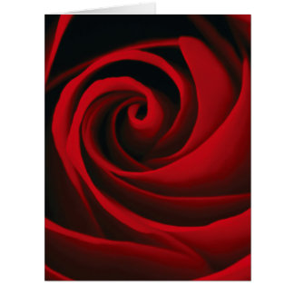Red Rose Flower Swirl Classy Design Big Greeting Card