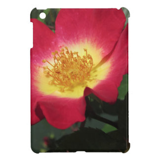 Red rose flower with yellow stamens iPad mini cases