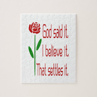 Red Rose God Said It Puzzles