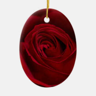 Red Rose Gorgeous Ceramic Ornament