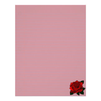 Red Rose Goth Art Letterhead