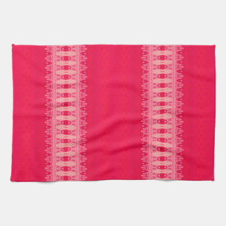 red rose hand towel