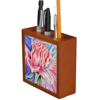 Red rose / Have a heart Pencil/Pen Holder