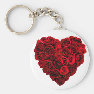 Red rose heart keychain