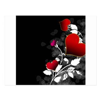 Red Rose Heart Stencil Postcard
