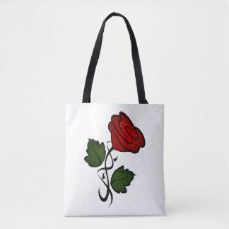 Red Rose Kiss kash002 Tote Bag