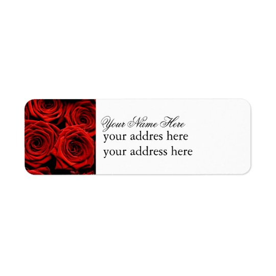 Red Rose Label Return Address Label