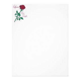 Red Rose Letterhead Template
