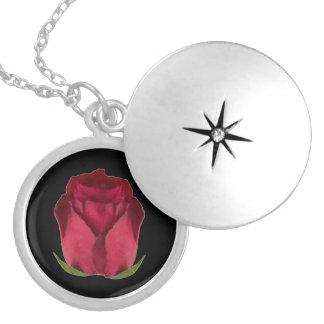 Red Rose Locket Necklace