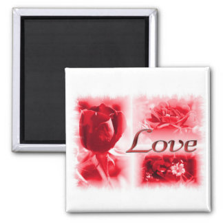 Red Rose Love Trio Magnet