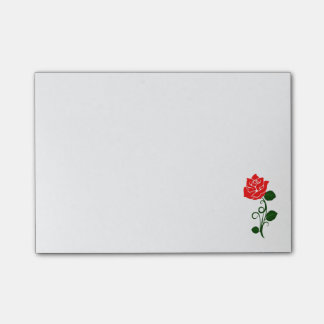 Red Rose Note Pad
