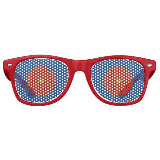 Red Rose of Lancaster Retro Sunglasses