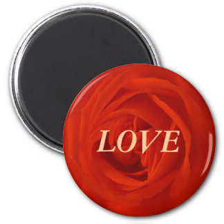 Red rose of the love magnet