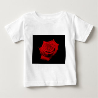 Red Rose on Black Background Baby T-Shirt