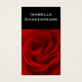 Red Rose on Black Business Card