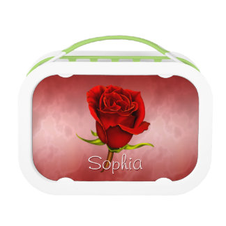 Red Rose on Red Lunch Box