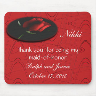 Red Rose onBlkGraphic,customize Mouse Pad
