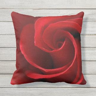 Red Rose Outdoor Throw Pillow, Throw Pillow