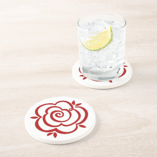 Red Rose Outline Coaster