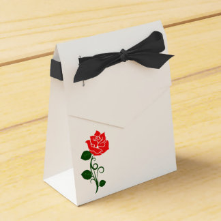 Red Rose Party Favor Bag Favor Box
