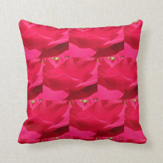 Red Rose Pattern Throw Pillow