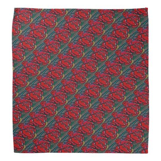 Red Rose Patterned Bandanas