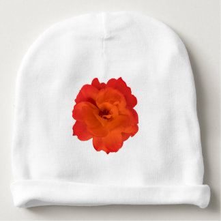 Red Rose Photo Baby Beanie
