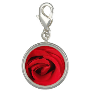 Red Rose Photo Charm