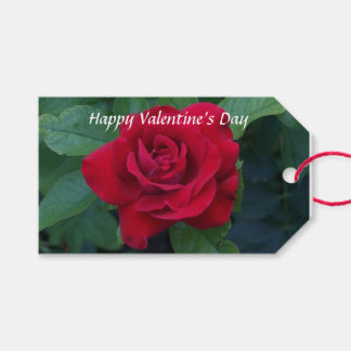 Red Rose Photo Gift Tags