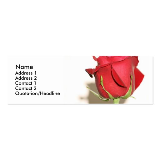 Red Rose Photo Wedding Favor Tag Customizable Business Card Templates