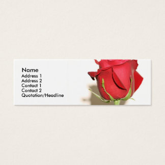 Red Rose Photo Wedding Favor Tag Customizable Mini Business Card