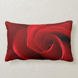 Red Rose Polyester Throw Pillow, Lumbar Pillow