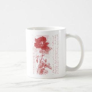 Red Rose Postcard Design Classic White Coffee Mug