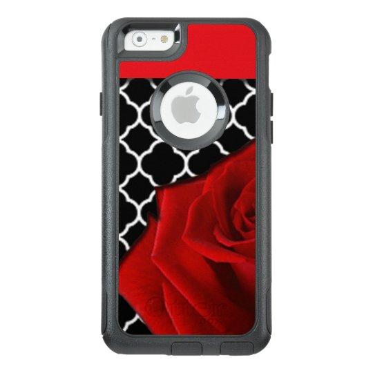 Red Rose & Quatrefoil Pattern OtterBox iPhone 6/6s Case