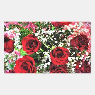 Red Rose Radiance Sticker