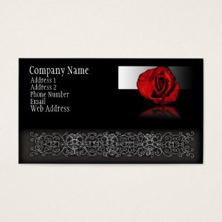 Red Rose Reflection Business Card