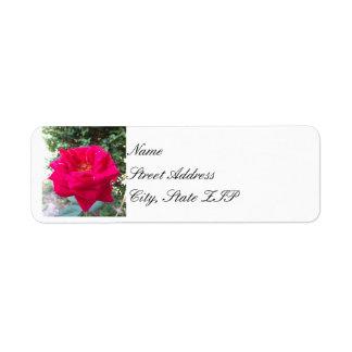 Red Rose Return Address Lables