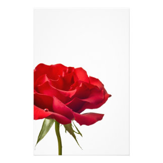 Red Rose - Roses Customized Template Stationery