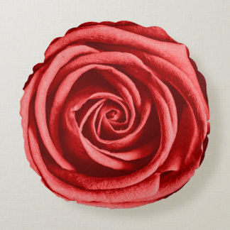 Red Rose Round Pillow