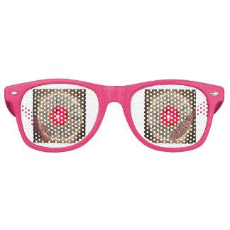 Red Rose Rustic Glow Retro Sunglasses