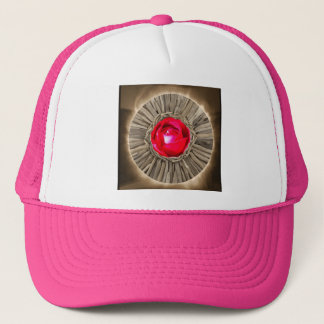 Red Rose Rustic Glow Trucker Hat